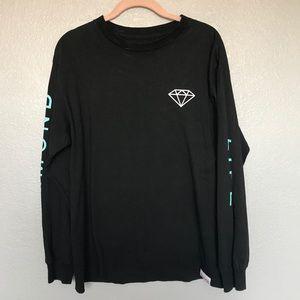 EUC Diamond Supply Co. Long Sleeve Shirt Black M